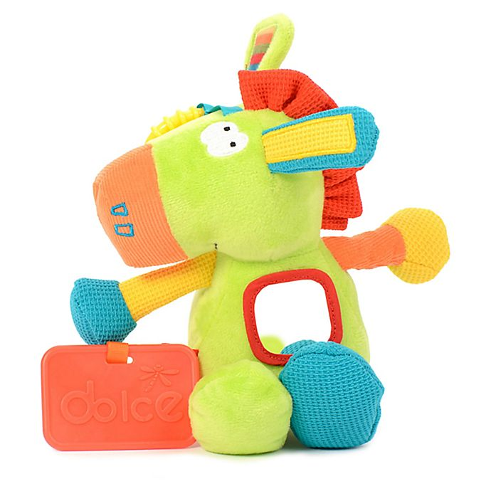 Alternate image 1 for Dolce Spring Pony Plush Toy in Green