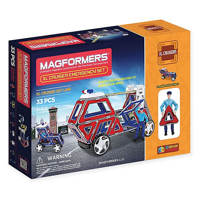 Alternate image 1 for Magformers® 33-Piece XL Cruisers Emergency Set in Multi