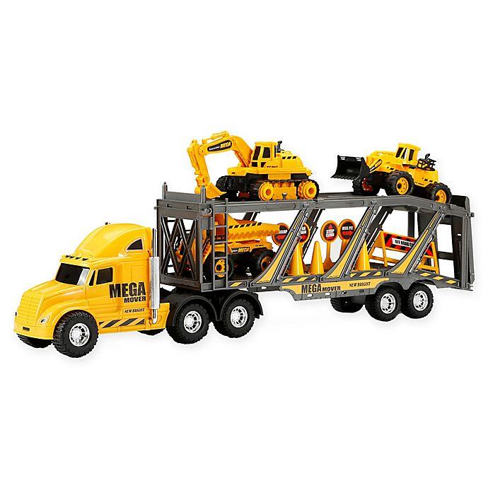 Alternate image 1 for New Bright Free Wheel Mega Construction Hauler Playset in Yellow