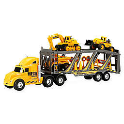 New Bright Free Wheel Mega Construction Hauler Playset in Yellow