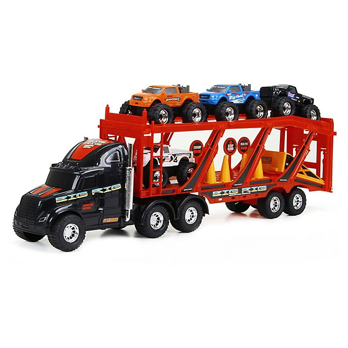 Alternate image 1 for New Bright Big Foot Car Carrier Playset in Red