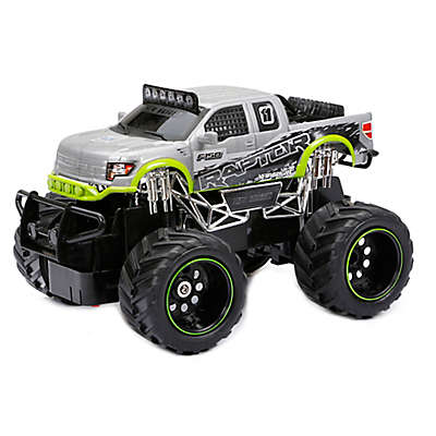 New Bright 1:24 FF Ford Raptor Remote Control Truck in Silver