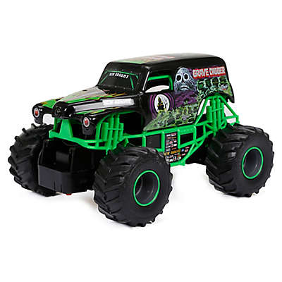 New Bright 1:24 R/C Monster Jam Grave Digger Toy in Black/Green