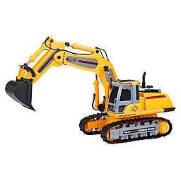 New Bright Remote-Control Mega Excavator in Yellow
