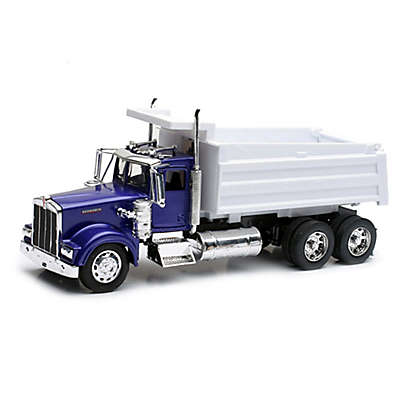 New-Ray Kenworth W900 Toy Dump Truck in Blue