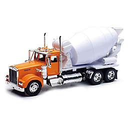 New-Ray Kenworth W900 Cement Mixer in Orange