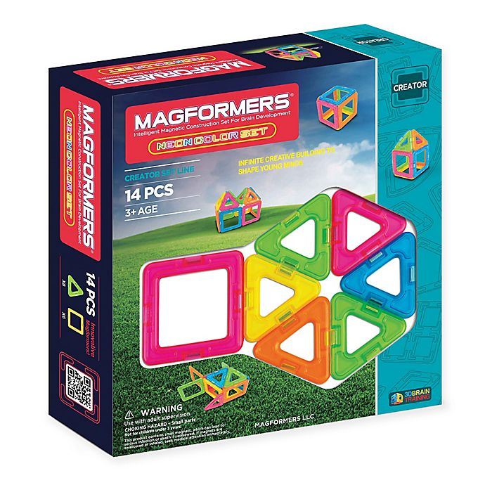 Alternate image 1 for Magformers® 14-Piece Neon Set