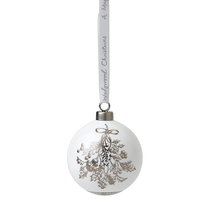 Alternate image 1 for Wedgwood® 2018 Holly Ball Christmas Ornament