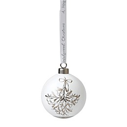 Wedgwood® 2018 Mistletoe Ball Christmas Ornament