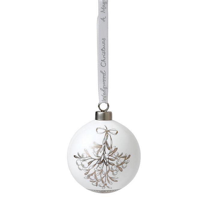 Alternate image 1 for Wedgwood® 2018 Mistletoe Ball Christmas Ornament