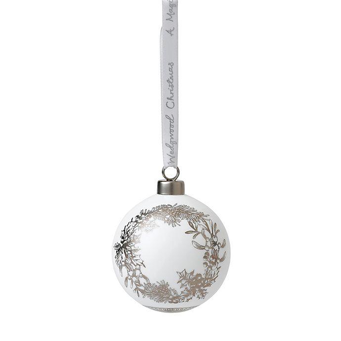 Alternate image 1 for Wedgwood® 2018 Wreath Ball Christmas Ornament