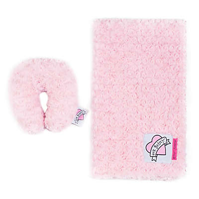 Betsey Johnson® 2-Piece Fur Baby Blanket and Pillow Set in Pink