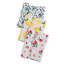 Little Unicorn Berry Muslin Swaddle Blankets (Set of 3)