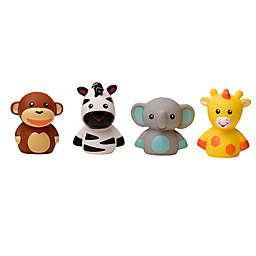 4-Piece Jungle Animal Bath Finger Puppet Set