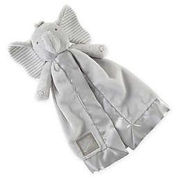 Baby Aspen Little Peanut Elephant Lovie with Rattle in Grey/White