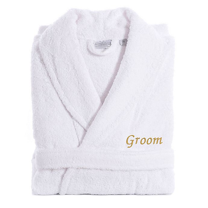 Alternate image 1 for Linum Home Textiles Groom Bathrobe