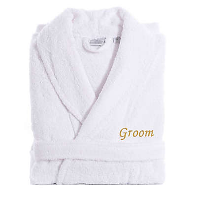 Linum Home Textiles Groom Bathrobe