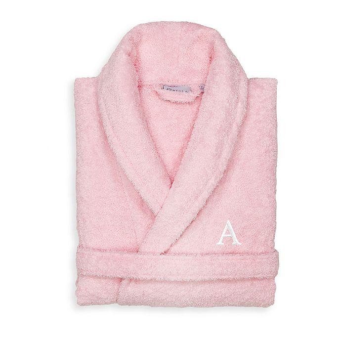 Alternate image 1 for Linum Home Textiles Small/Medium Turkish Cotton Terry Unisex Bathrobe in Pink