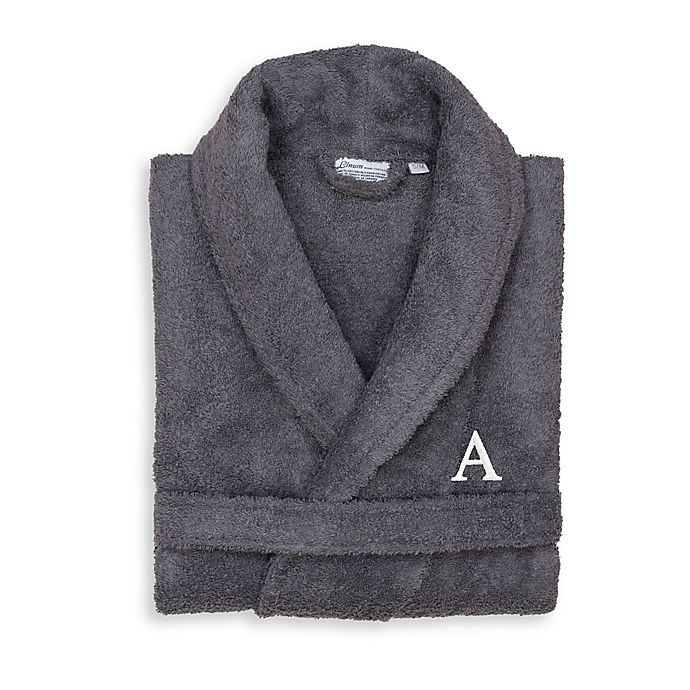 Alternate image 1 for Linum Home Textiles Large/X-Large Turkish Cotton Terry Unisex Bathrobe in Grey