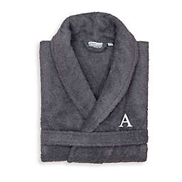 Linum Home Textiles Large/X-Large Turkish Cotton Terry Unisex Bathrobe in Grey