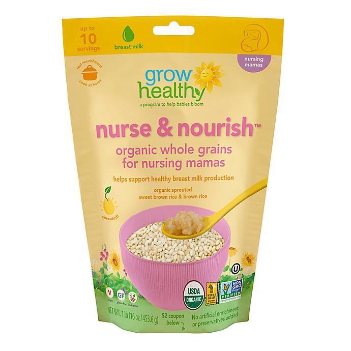 Alternate image 1 for Grow Healthy Nurse & Nourish™ 16 oz. Organic Whole Grains for Nursing Mamas