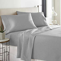 Pointehaven Printed 300-Thread-Count Deep-Pocket Twin XL Sheet Set in Grey