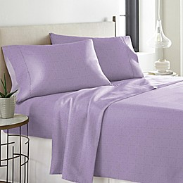 Pointehaven Printed 300-Thread-Count Twin XL Sheet Set in Lavender