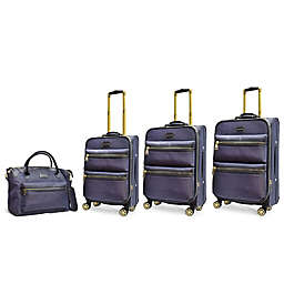 Adrienne Vittadini Two-Tone Nylon 4-Piece Luggage Set