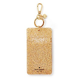 kate spade new york Glitter ID Clip in Gold