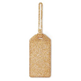 kate spade new york Glitter Luggage Tag in Gold