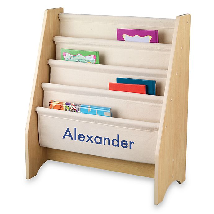 Kidkraft Personalized Ryan Sling Bookcase In Natural With