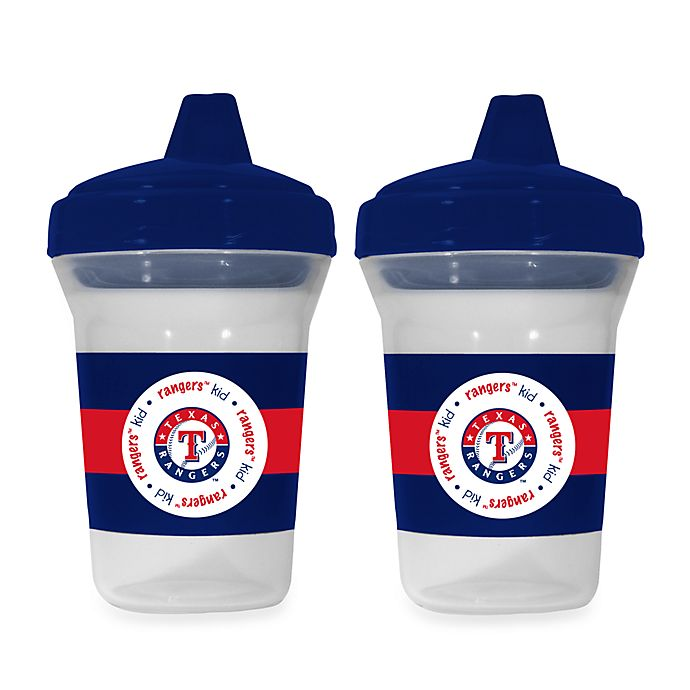 Alternate image 1 for Baby Fanatic® MLB® Sippy Cup 2-Pack in Texas Rangers