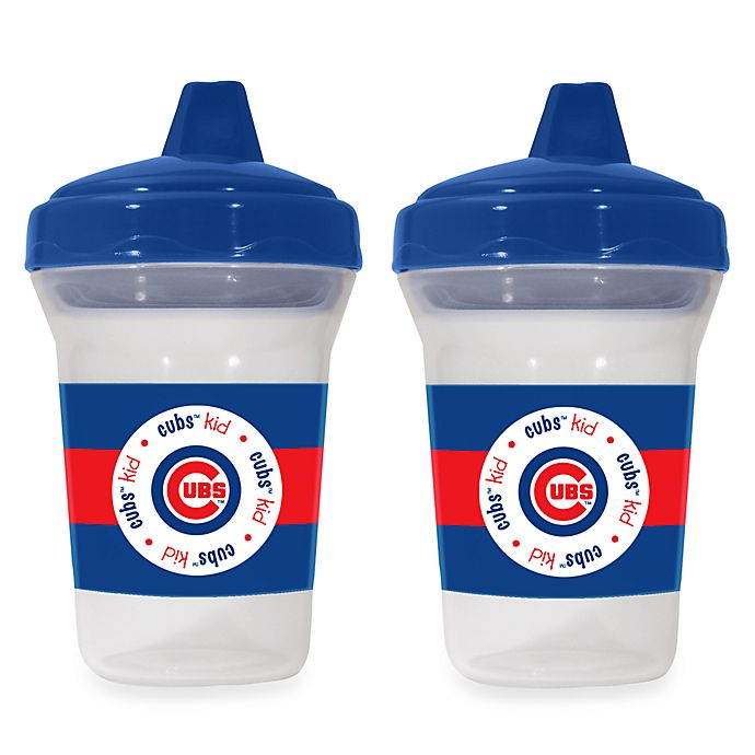 Alternate image 1 for Baby Fanatic® MLB® Sippy Cup 2-Pack in Chicago Cubs