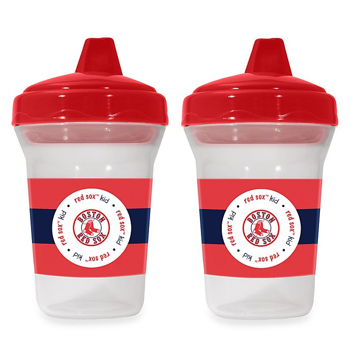 Alternate image 1 for Boston Red Sox Baby Fanatic® MLB® 2-Pack Sippy Cup