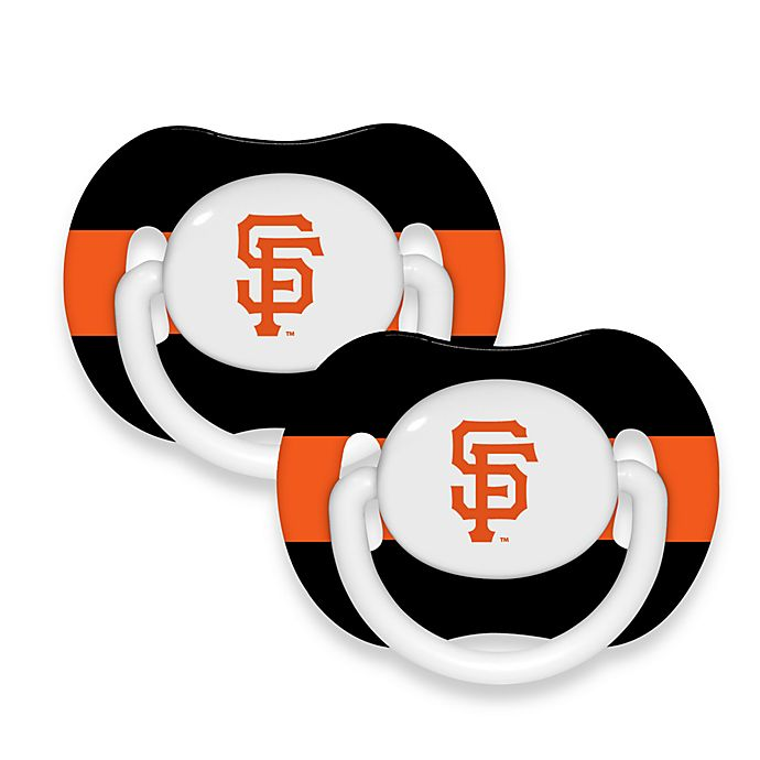 Alternate image 1 for Baby Fanatic® MLB® Pacifier 2-Pack in San Francisco Giants