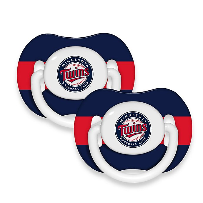 Alternate image 1 for Baby Fanatic® MLB® Pacifier 2-Pack in Minnesota Twins