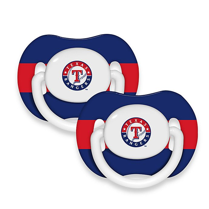 Alternate image 1 for Baby Fanatic® MLB® Pacifier 2-Pack in Texas Rangers