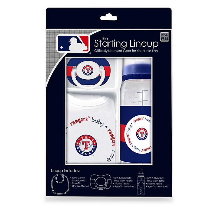 Alternate image 1 for Texas Rangers Baby Feeding Gift Set