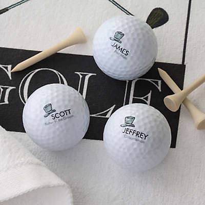 Wedding Party Golf Balls (Set of 3)