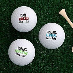 Best. Dad. Ever. Golf Balls (Set of 3)
