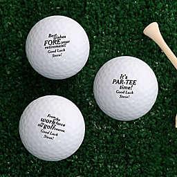 Retirement Golf Balls (Set of 3)