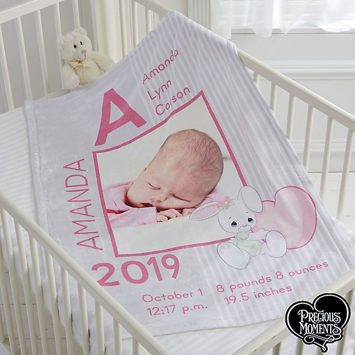 Alternate image 1 for Precious Moments® Baby Girl Fleece Baby Blanket