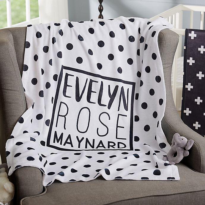 Alternate image 1 for Black & White Fleece Baby Blanket