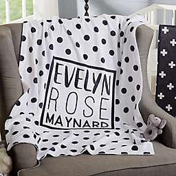 Black & White Fleece Baby Blanket