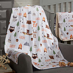 Woodland Adventure Fleece Baby Blanket