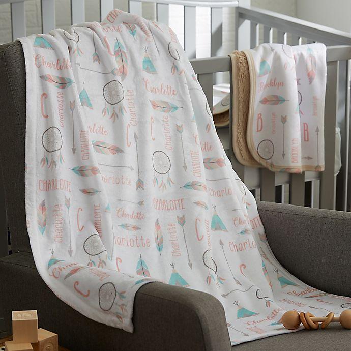 Alternate image 1 for Boho Baby Fleece Baby Blanket