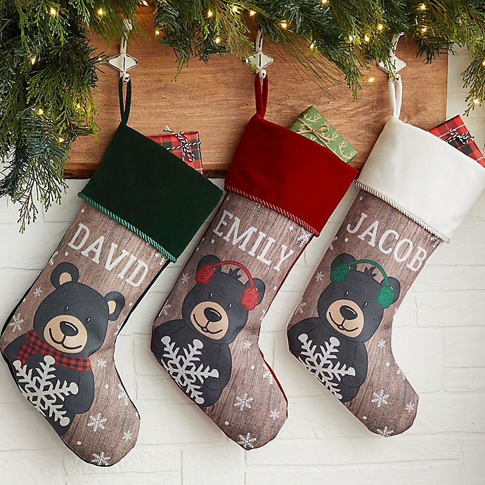 Bear Christmas Stocking.Holiday Bear Family Christmas Stocking Bed Bath Beyond