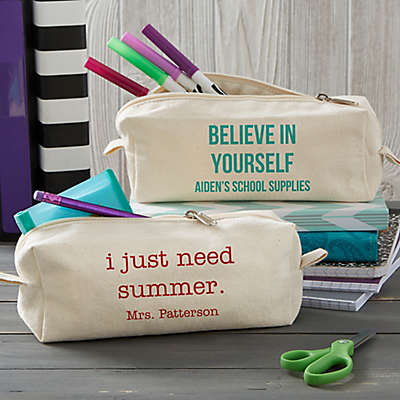 Write Your Own Canvas Pencil Case