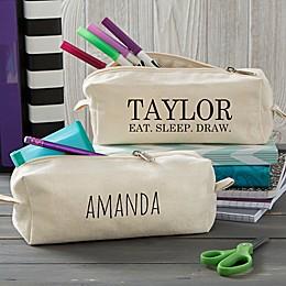 Modern Name Canvas Pencil Case