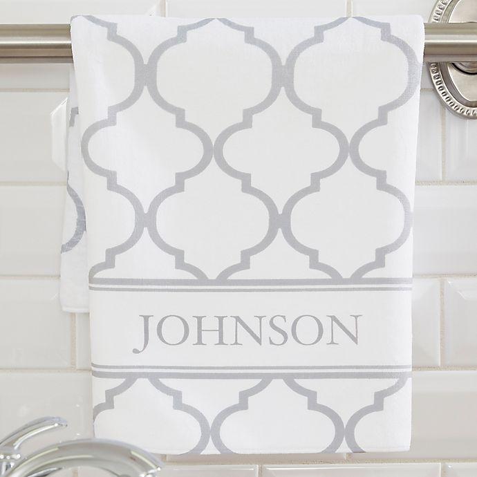 Alternate image 1 for Geometric Pattern Hand Towel